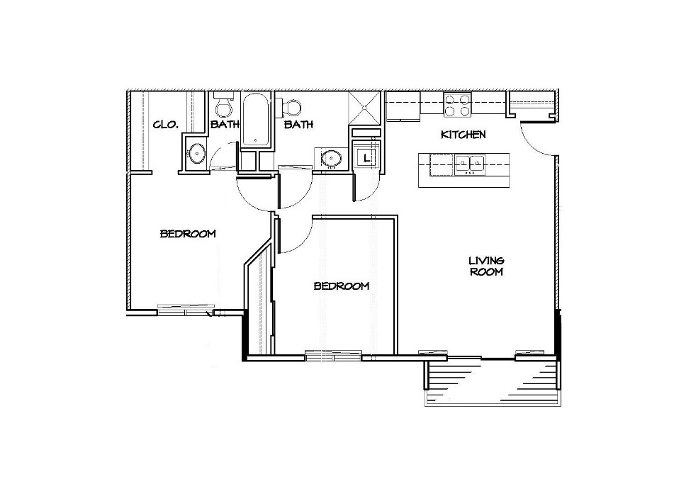 Center Unit Floor Plan Website 700 Roush Rentals