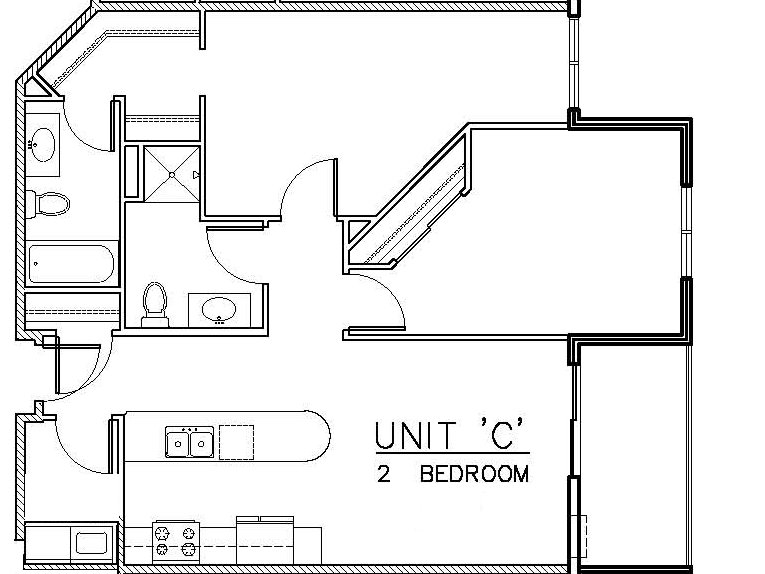 707 C Unit Floor Plan