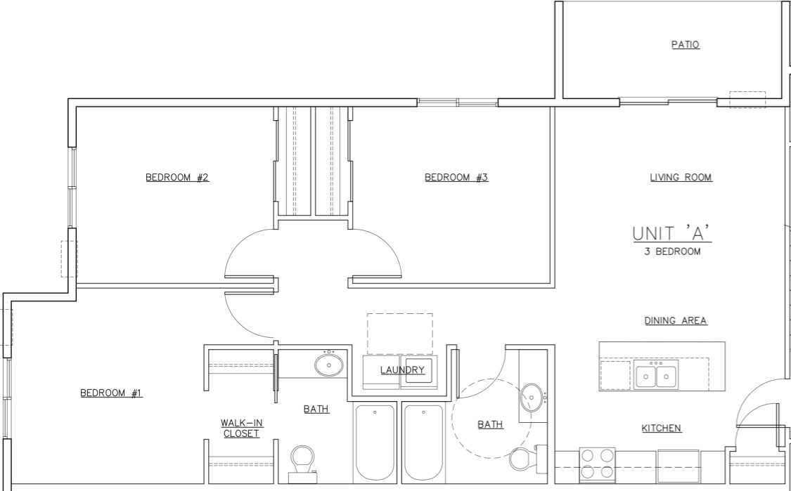 Waterview A Unit Floor Plan