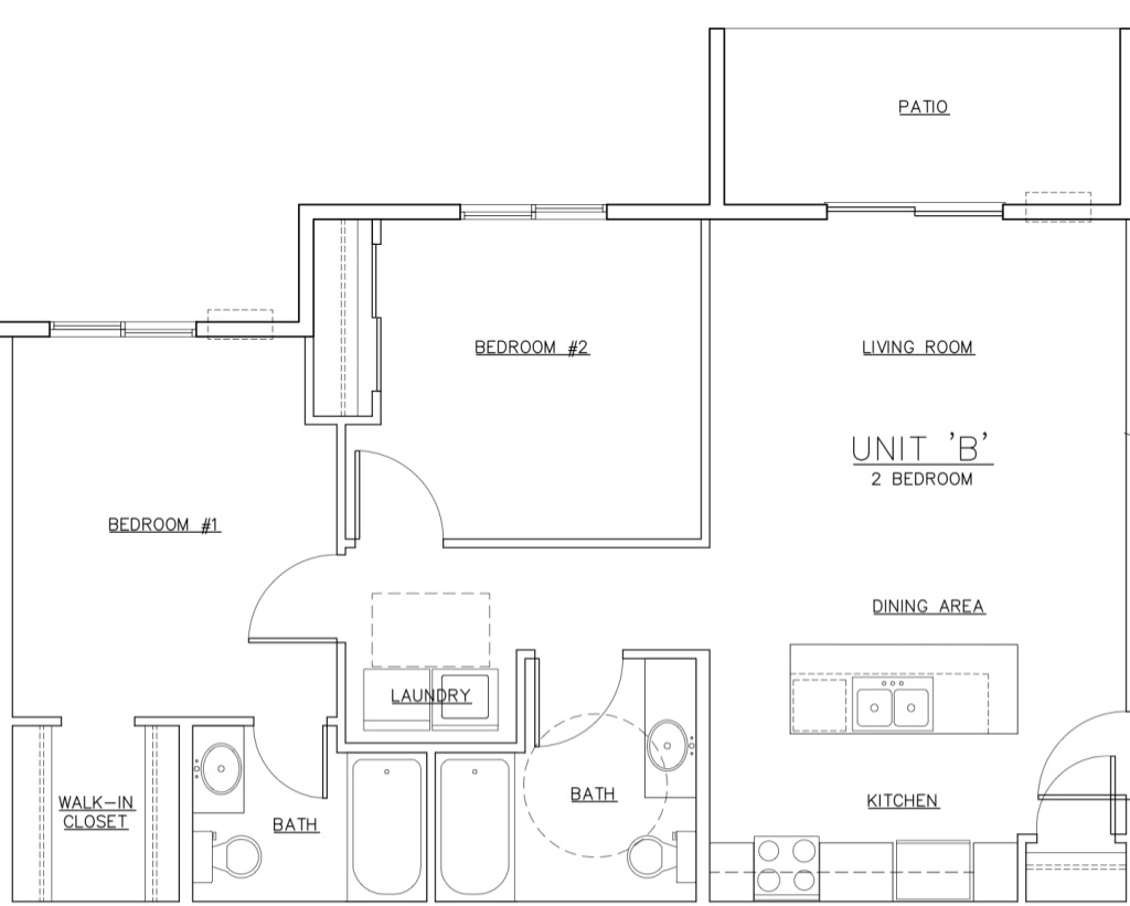 Waterview B Unit Floor Plan