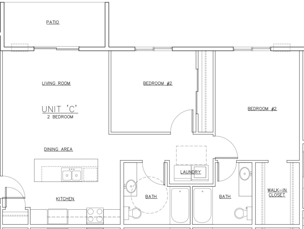 Waterview C Unit Floor Plan