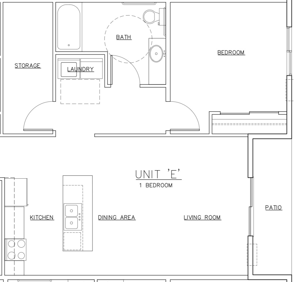 Waterview E Unit Floor Plan