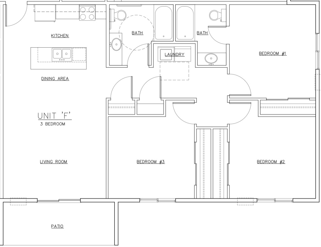 Waterview F Unit Floor Plan