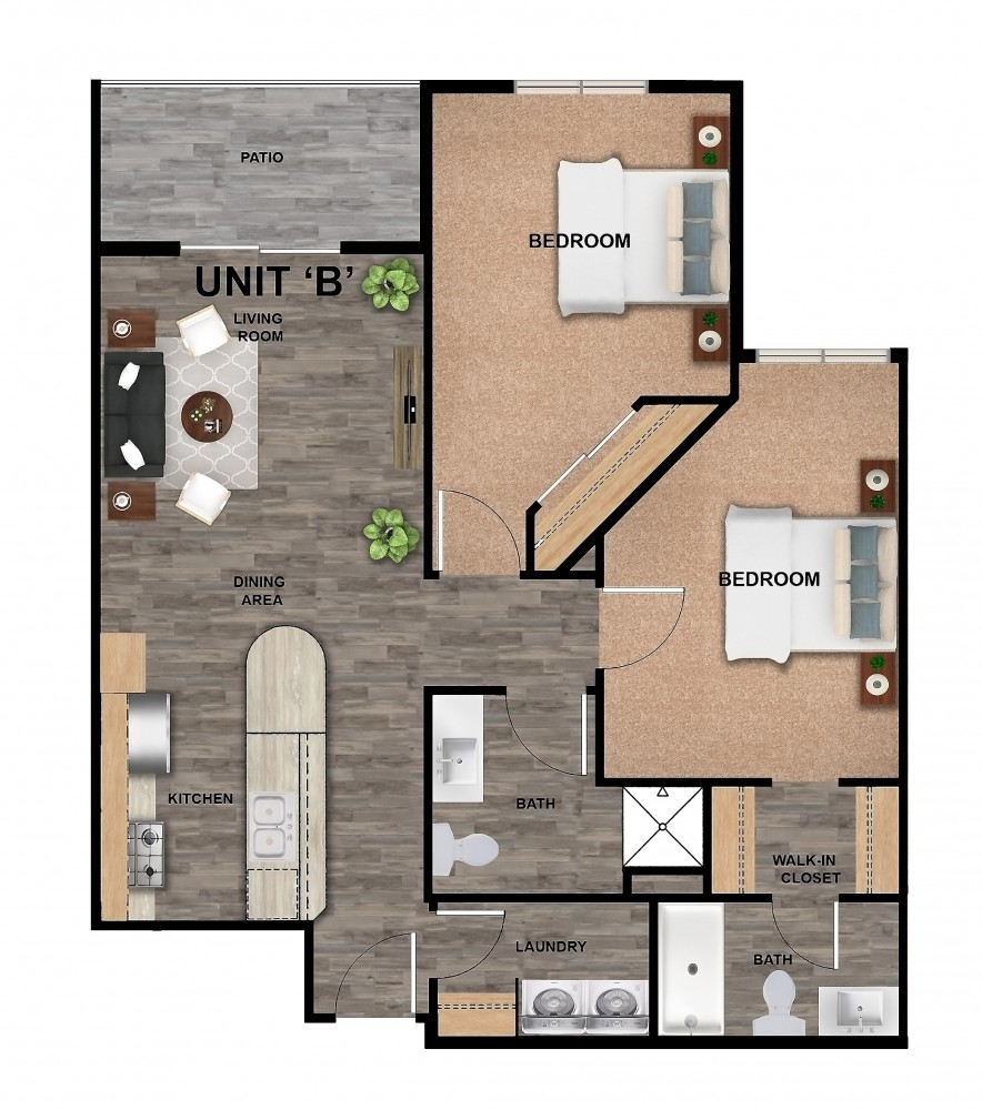 707-B-Unit Color Floor plan (2)